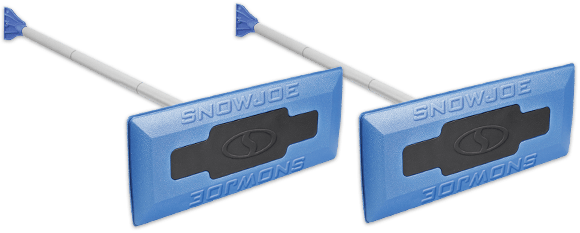 Two Snow Joe® Snow Brooms